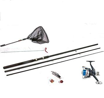 OAKWOOD Pesca con flotador Kit 304,8 cm Rod, carrete, flotadores, línea, resto, ganchos, tiro, Red etc.: Amazon.es: Deportes y aire libre