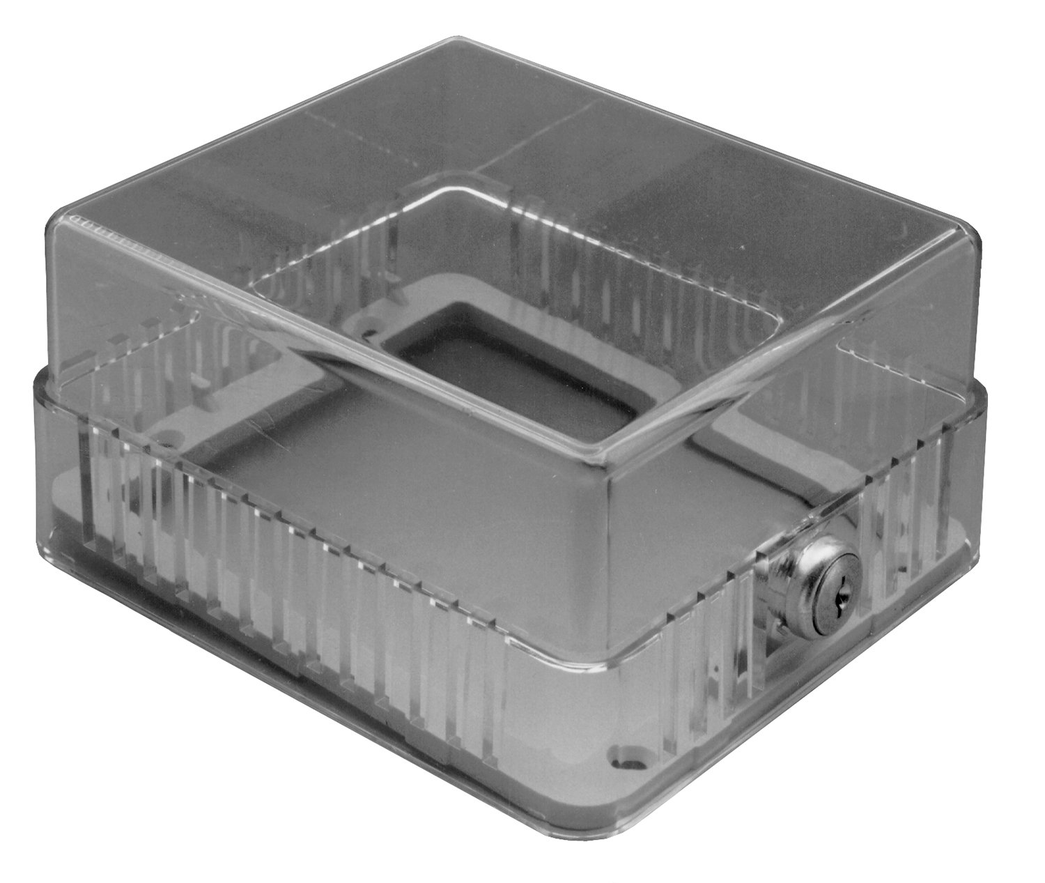 TPI Corporation TG2 Clear Plastic Thermostat Guard, 5.25''W x 5.25''H x 3.25'' Deep, Tumbler Lock, works with any Compatible Thermostat