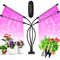 Grow Light for Indoor Plant, Chefic 4 Head Plant Light Auto Timer 10 Adjustable Level 3/9/12H LED Grow Light for Potted…