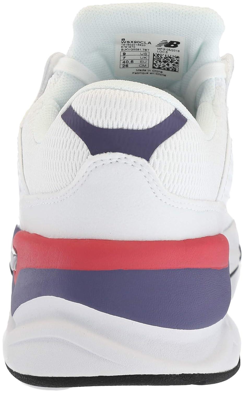 New Balance Damen X-90 Sneaker, Schwarz, Einheitsgröße Weiß (White Munsell/Wild Indigo Cla)