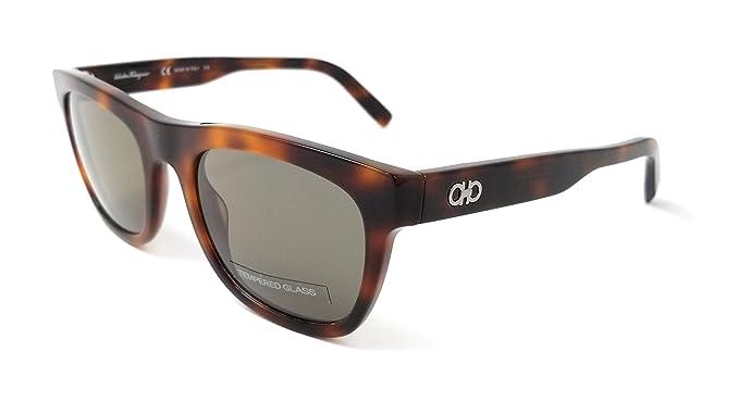 37f3bc78df62 Image Unavailable. Image not available for. Color: Salvatore Ferragamo  Rectangular Sunglasses ...