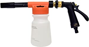 CarCarez Car Foam Gun Foam Cannon Blaster and Hose End Sprayer with Adjustment Ratio Dial Foam Sprayer Fit Garden Hose for Car Home Cleaning and Garden