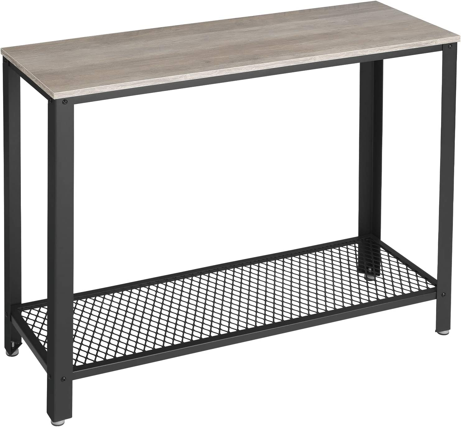 VASAGLE Console Table, 40'' x 13.8'' x 31.5'', Greige and Black