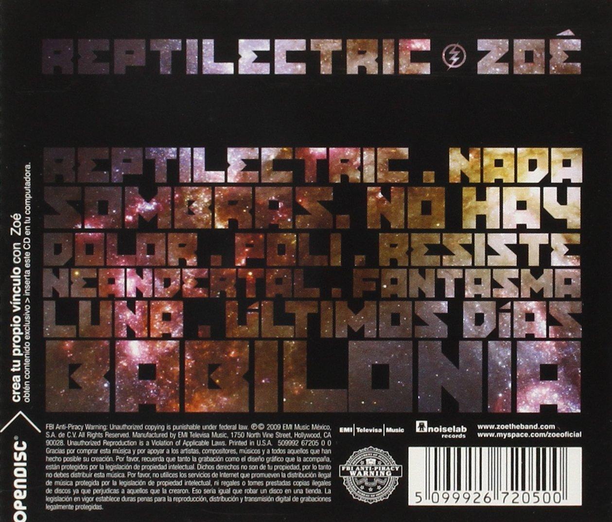 zoe reptilectric album