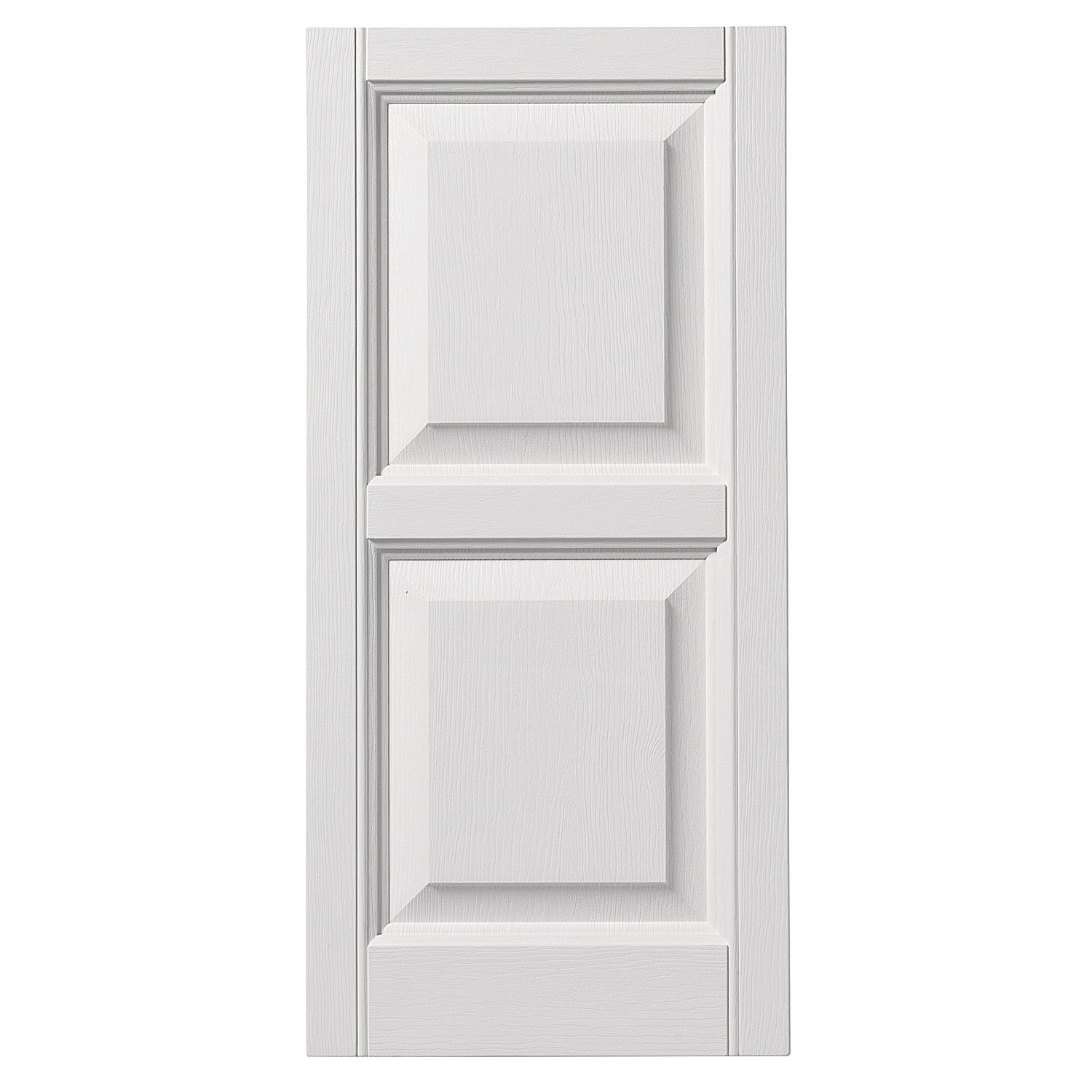 Ply Gem Shutters and Accents VINRP1239 11 Raised Panel Shutter, 12'', White