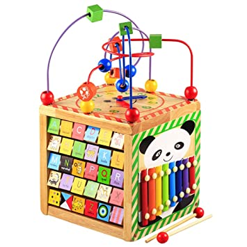 SUPRBIRD Tier-Puzzle-Spielzeug für Kinder ab 3 Jahren Holzspielzeug Dinosaurier-Spielzeuge Mo Steckspiele