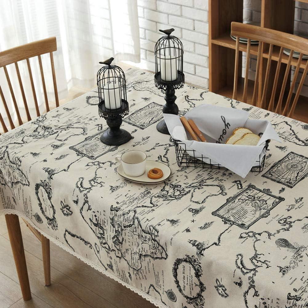 DOTBUY Rectangle Mantel de Lino de algodón Antimanchas, Amor Mantel Rectangular de para el Restaurante del Hotel de casa Restaurante Decoración: Amazon.es: Hogar