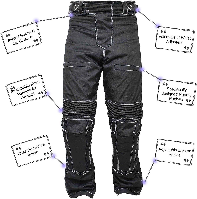 newfacelook Motorradhose Herren Textilhose Motorrad Wasserdicht Hose mit Protektoren