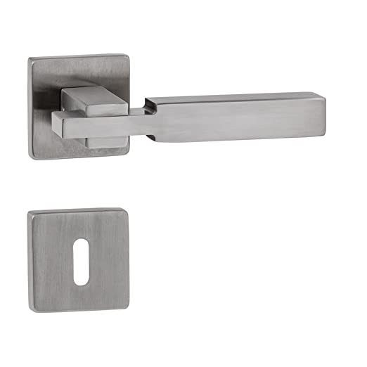 Rectangular manillas Long Cube Acero Inoxidable Mate * metal ...