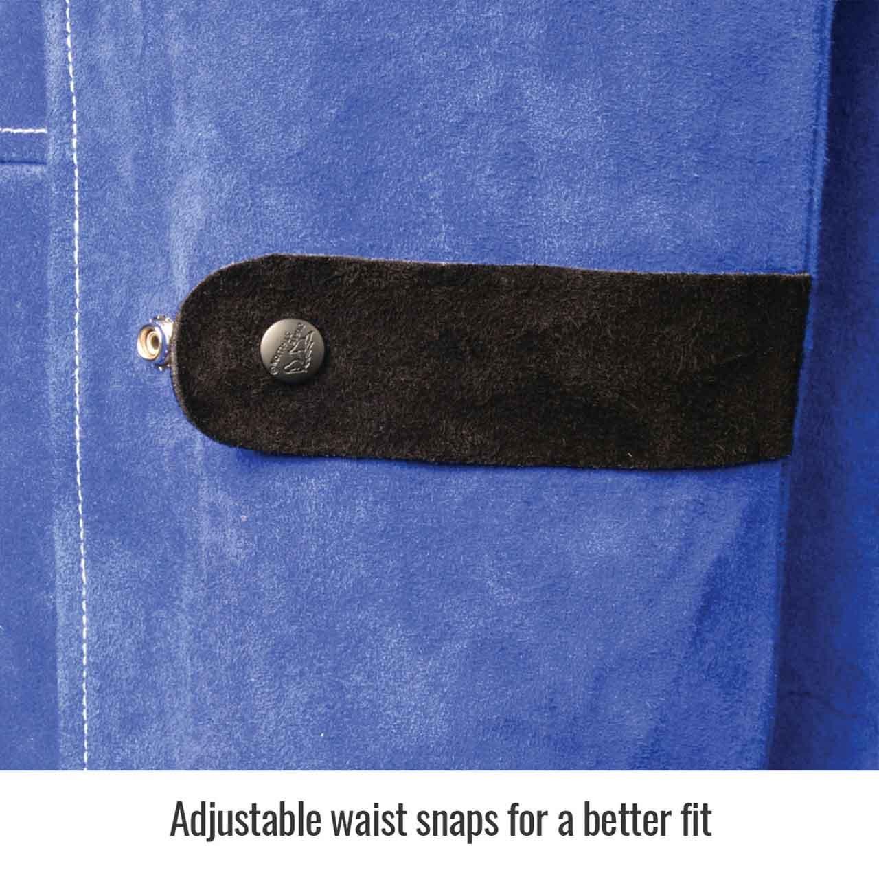 Black Stallion JL1030-BB Color Block Leather Welding Jacket, 3X-Large by Black Stallion (Image #3)