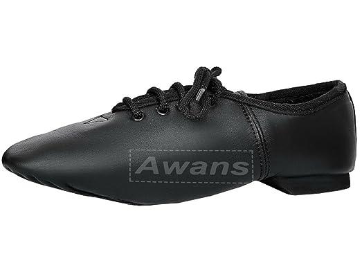 Starlite - Zapatillas de danza de cuero para mujer negro negro Talla:41 2P8dK8IRSP