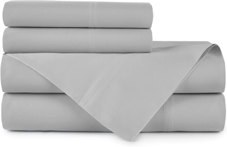 Peacock Alley LIGHT GRAY 100/% Egyptian Cotton Queen Sheet Set 500 TC BRAND NEW