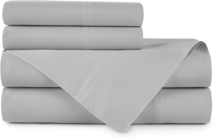 """6Pc QUEEN Sheet Set Peacock Alley 100/% Crisp Cotton Percale 4Cases Ivory 19/"""" New"""