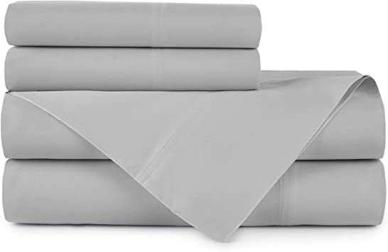 "Peacock Alley 500 TC 100/% Egyptian Cotton Ivory Sateen King Sheet Set 19/"" Deep"