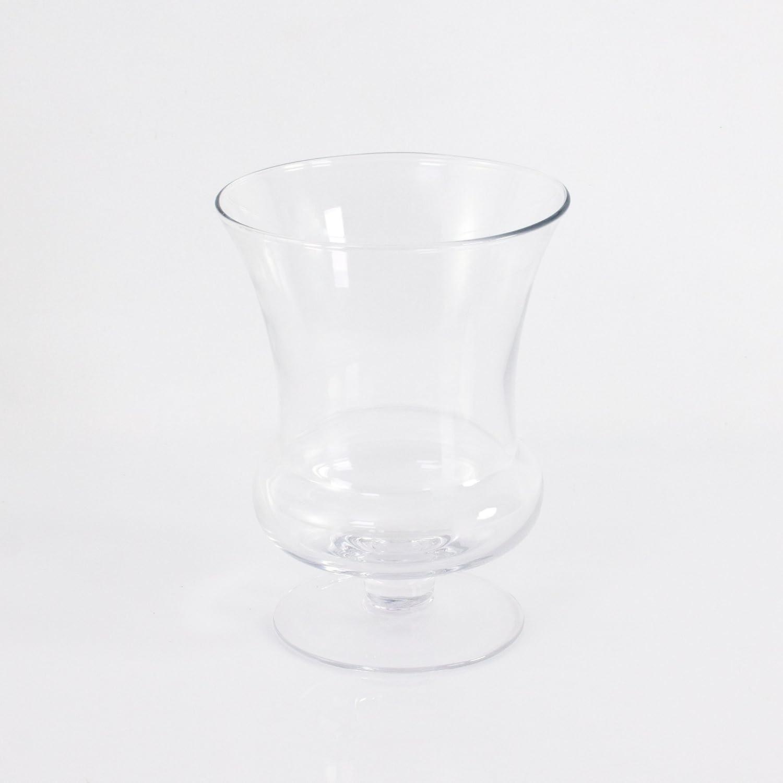 Vaso de vidrio // Portavelas 24 cm INNA Glas transparente Florero en forma de copa CARA de cristal /Ø 18 cm