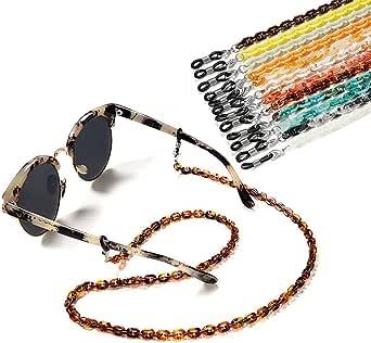 حبل حامل سلسلة قناع النظارات - نظارات أكريليك أنيقة حول الرقبة، نظارات شمسية قناع سلسلة مجوهرات إكسسوارات هدايا للنساء والفتيات