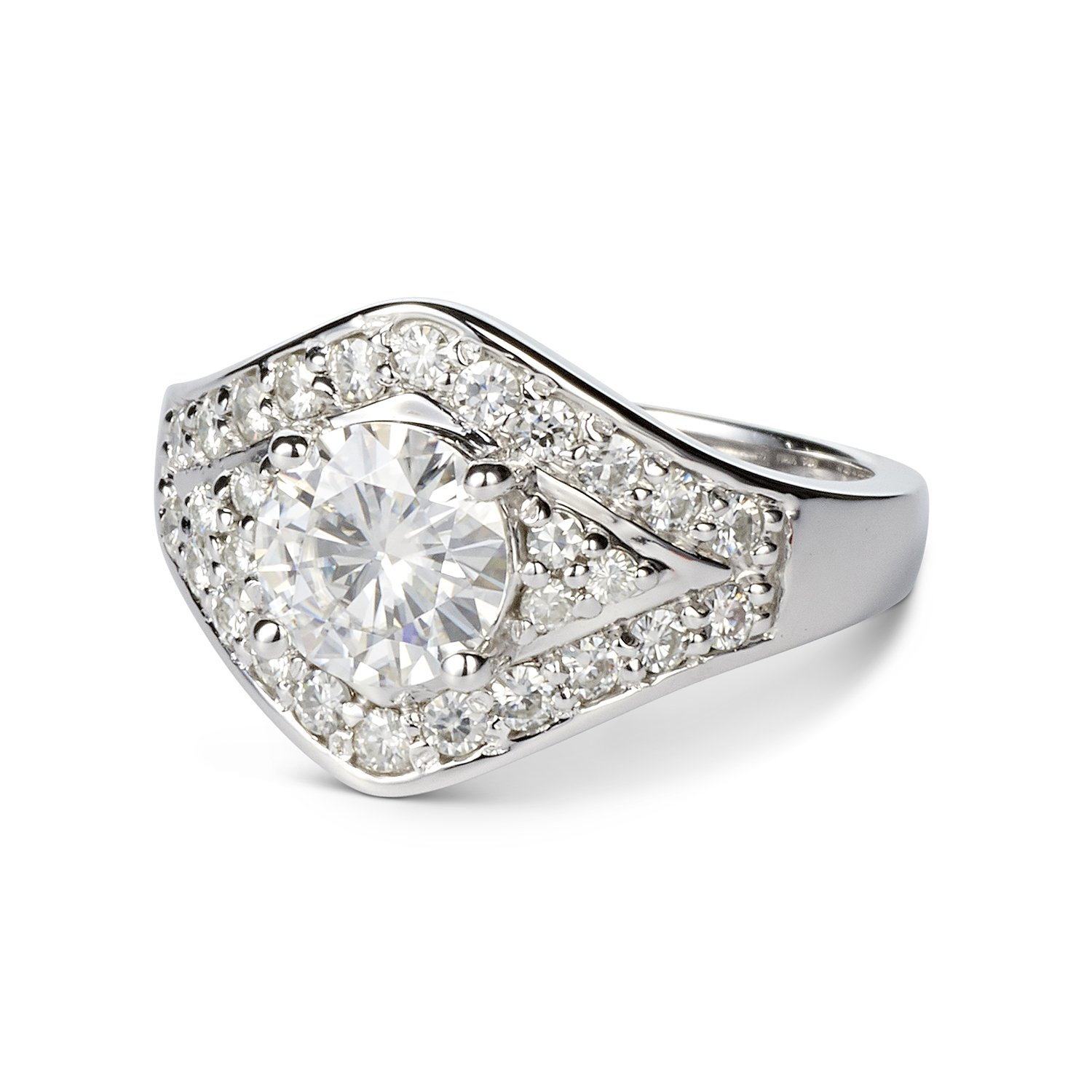 Forever One Round 7.0mm Moissanite Ring-size 7, 1.73cttw DEW (G-H-I) By Charles & Colvard