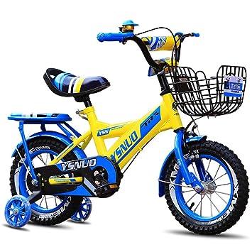 Bicicletas para niños con ruedas auxiliares iluminadas, triciclo con pedales para niños y niñas, bicicletas para ...