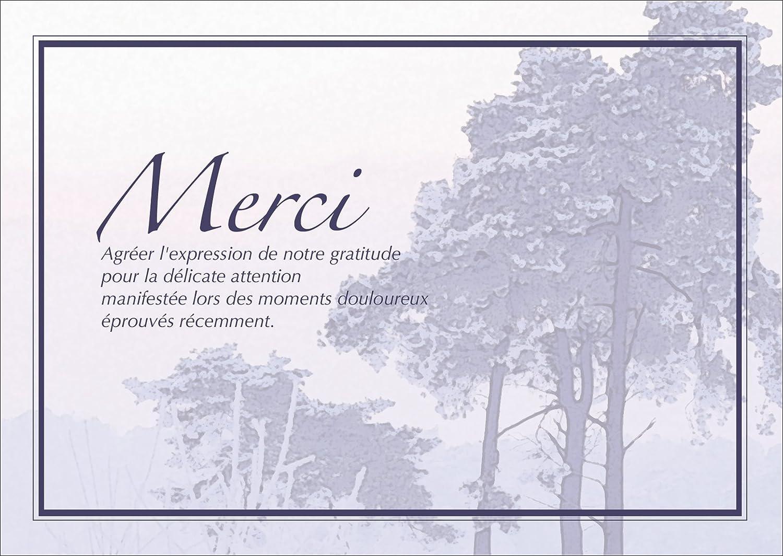 Berühmt Merci Agréer l'expression de notre gratitude pour la délicate  NB22