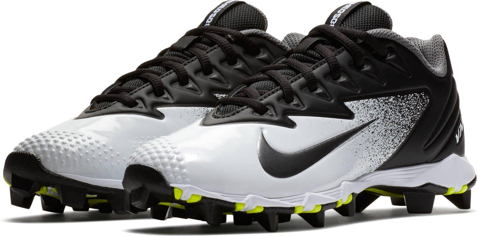 Nike Boy's Vapor Ultrafly Keystone BG Baseball Cleats (4 Big Kid M, Black/Metallic Silver/White)