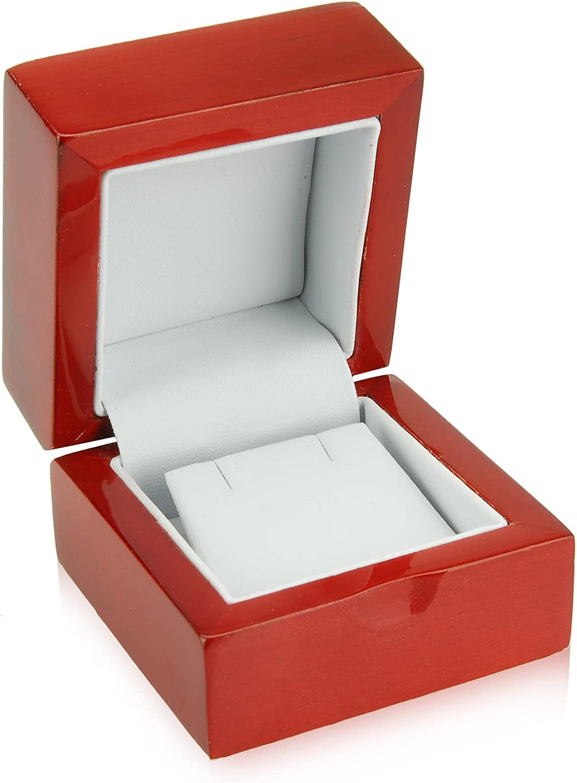 Geff House Diseño de madera natural pendiente para el caja de regalo: Amazon.es: Joyería