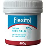 Flexitol Heel Balm 500g Tub - Proven Treatment for Dry & Cracked Feet - General & Diabetic Foot Care
