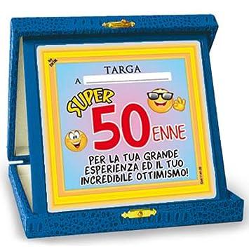 Targhetta Trofeo 50 Anni Gadget Idea Regalo Festa 50