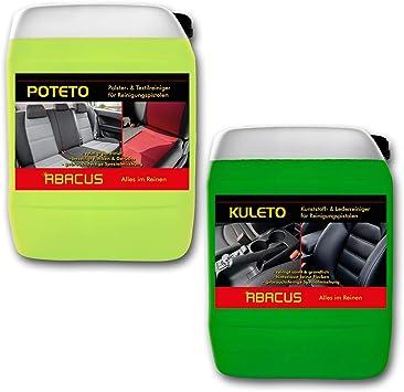 Abacus Tornador Black Reiniger Nachfüll Set 1x 5 Liter Kuleto 1x 5 Liter Poteto Gebrauchsfertige Reiniger Für Polster Textil Kunststoff Leder 7428 Auto