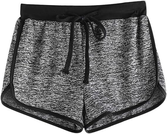 Clearance Women Teen Girls Summer Sport Yoga Shorts Elastic Waist Cuekondy Casual Loose Gym Workout Beach Short Pants