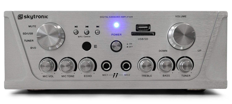 Skytronic Amplificador HiFi PA Karaoke MP3-USB-SD 400W