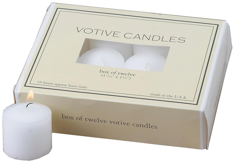 Biedermann & Sons 12 Count 10-Hour Votive Candle Box, White Biedrmann & Sons C1200WT