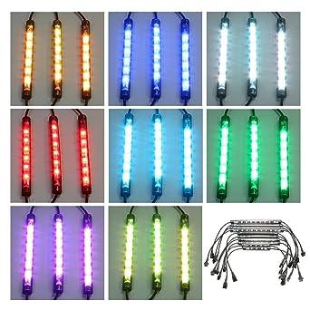Neon Rgb Moto Auto 15 Bande Pour Eclairage Etanche 10pcs Couleur Audew Universal Kit Vtt Flexible Led Lampe vm0wnN8