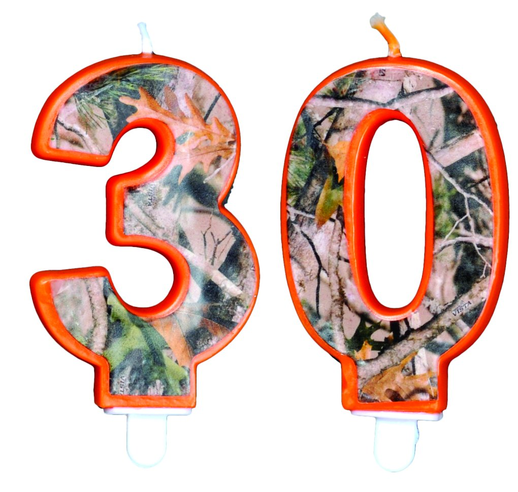 TheCamoHut Next Camo Birthday Number Candle (30) by TheCamoHut (Image #1)