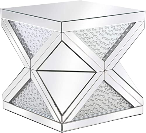 Elegant Lighting 33 in. Crystal End Table in Clear
