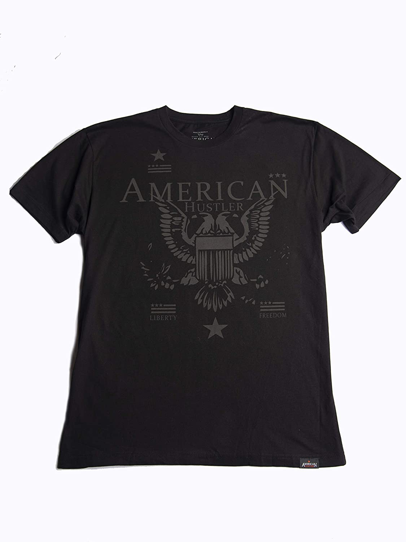 Premium Super Soft Short Sleeve Crew T-Shirt American hustler Mens Liberty
