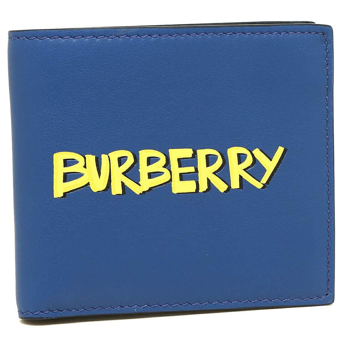 [バーバリー]折財布 メンズ BURBERRY 4076278 40900 ブルー [並行輸入品] B07HHRHKF8