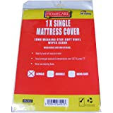 Single Vinyl Plastic Fitted Mattress Bed Cover Sheet Protector by BedWettingSheets