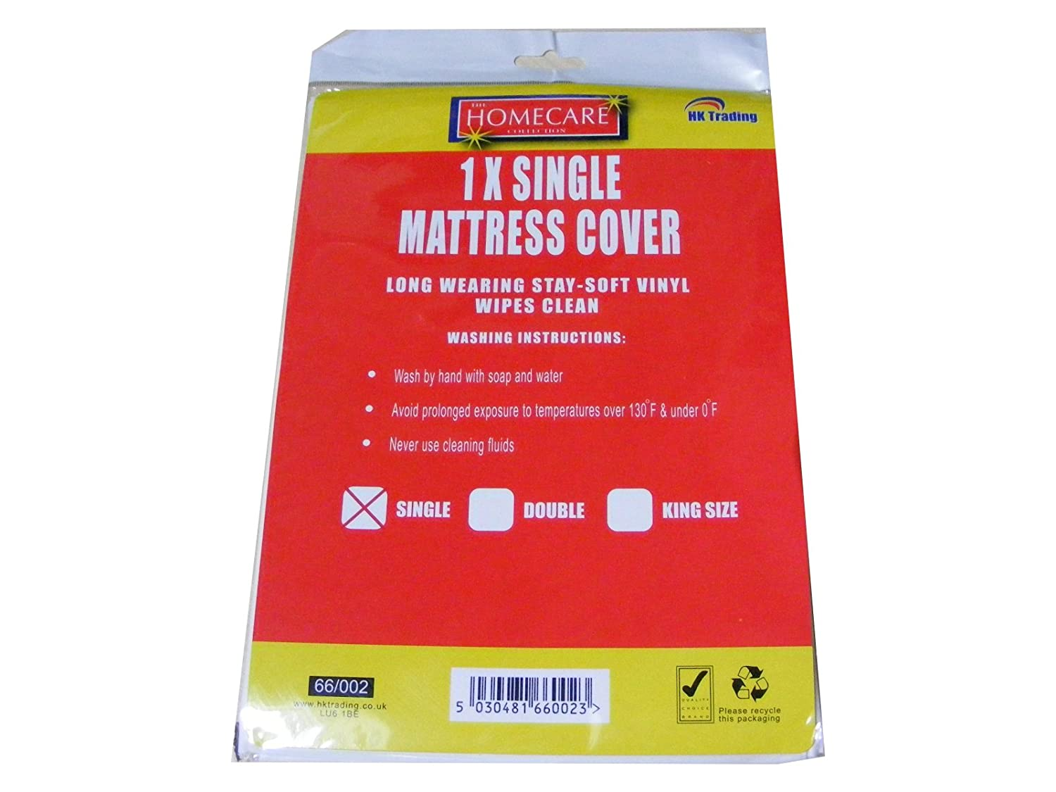 Single Vinyl Plastic Fitted Mattress Bed Cover Sheet Protector:  Amazon.co.uk: Kitchen U0026 Home