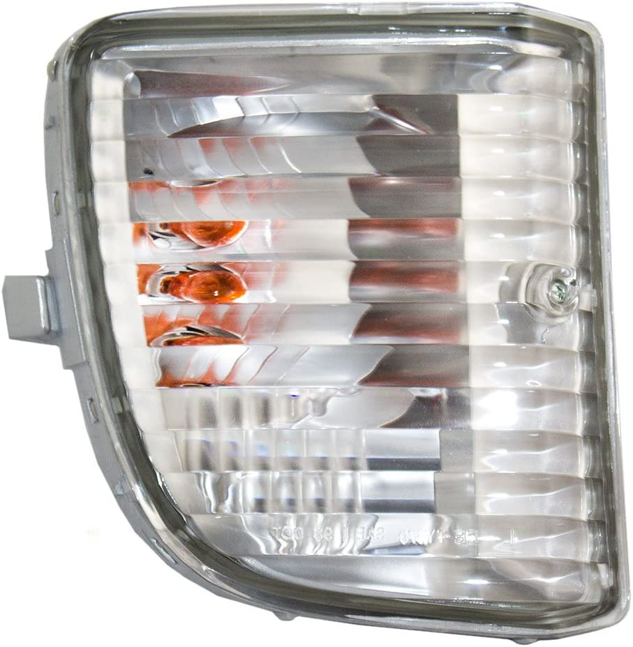 Driver and Passenger Park Signal Front Marker Lights Lamps Lenses Replacement for Toyota SUV 81521-35401 81511-35411