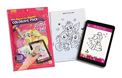 Painting Lulu My Little Pony Coloring Book With 32 Paper To Digital Pages Crayon Stylus And