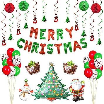 Decoración De La Fiesta De Navidad Globo De Dibujos