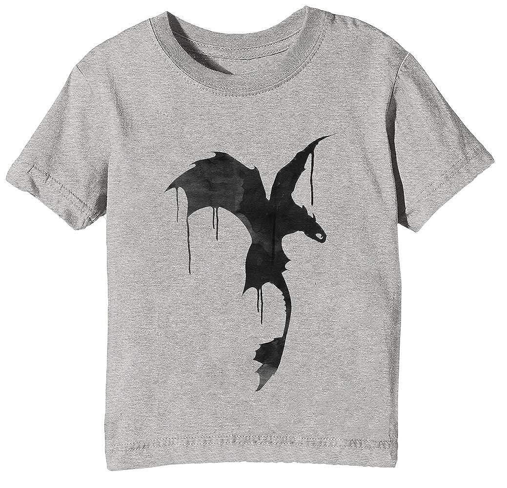 Sdentato Silhouette Bambini Unisex Ragazzi Ragazze T-Shirt Maglietta Grigio Maniche Corte Tutti Dimensioni Kids Boys Girls Grey T-Shirt