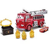 Disney and Pixar Cars Stunt and Splash Red with Exclusive Color Change Lightning McQueen Vehicle, Color Changers Playset for
