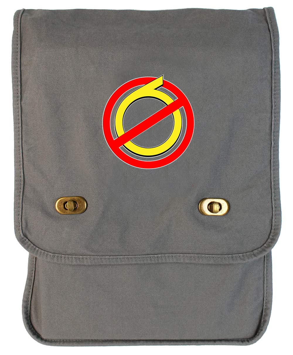 Tenacitee Anti Sixers Flamingo Raw Edge Canvas Messenger Bag