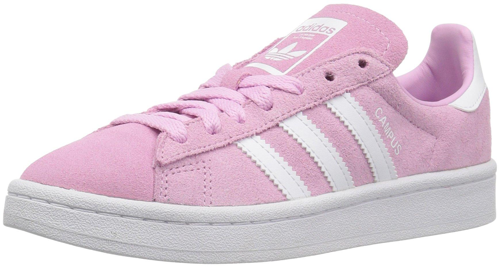adidas Originals Kids' Campus J Sneaker,Frost Pink/White/White,4 Medium US Big Kid