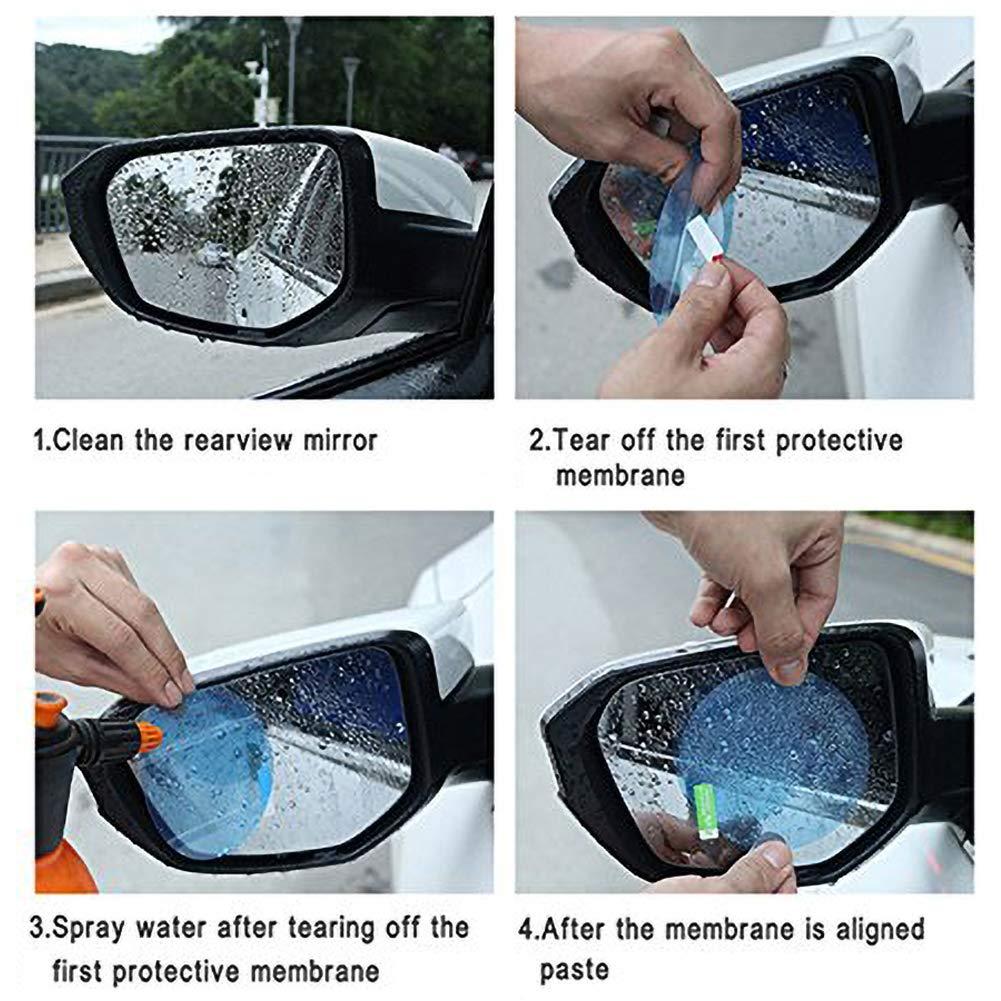BAODANH 2pcs Pellicola Antipioggia per Specchietto retrovisore Adesivi per Auto Decalcomanie Pellicole per vetri per finestre Pellicole Anti-Nebbia Impermeabili su Accessori per Auto Auto