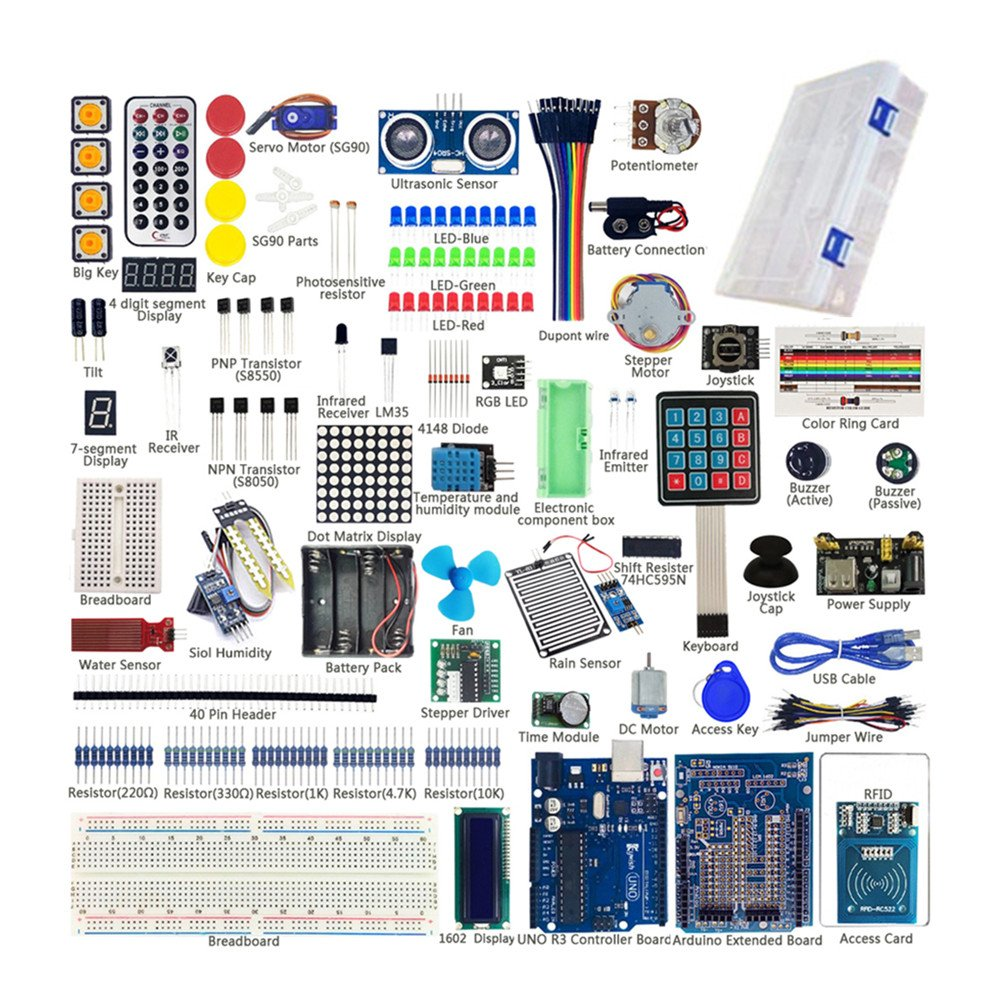 Sunhokey Uno R3 Starter Kit Rfid Sensor Water Level Indicator Electronic Circuit That Uses A 7segment Display Servo Rgb Led For Arduino Computers Accessories