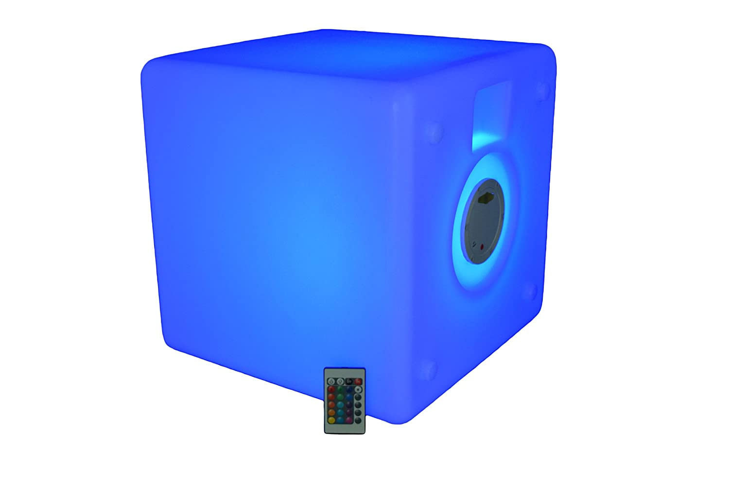 ... Cube   End Table   Ottoman   LED Cube 16 Color Changing Furniture With  Remote Control   Cordless, Waterproof, Rechargeable   Glow Light Up  Furniture ...