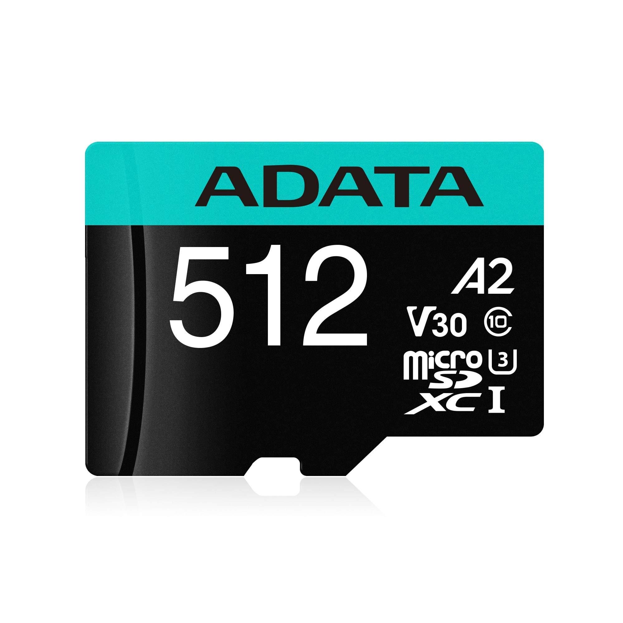ADATA 512G MICROSDXC Uhs-I U3 Class 10