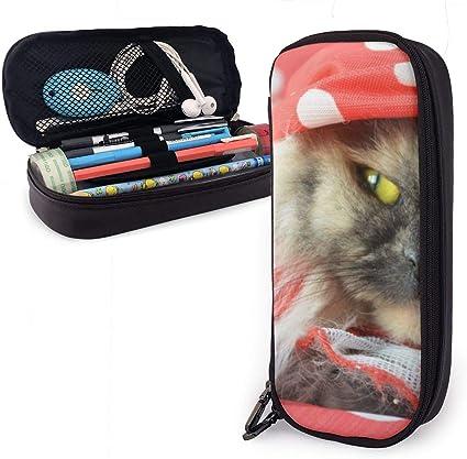 Estuche para piyamas con diseño de gato para niños y niñas, estuche para lápices grande para estudiantes, universidad, material escolar y oficina: Amazon.es: Oficina y papelería